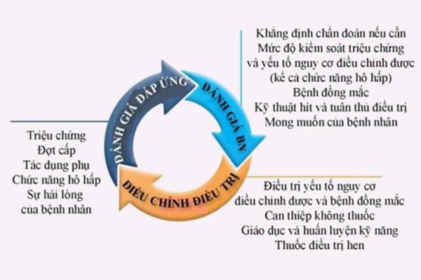 Chu trình điều trị hen phế quản