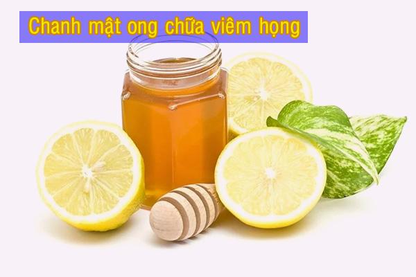Trà mật ong và chanh giúp cải thiện viêm họng