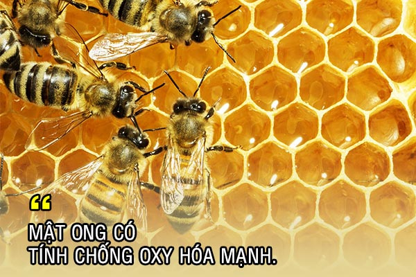 Mật ong có tính chống oxy hóa mạnh
