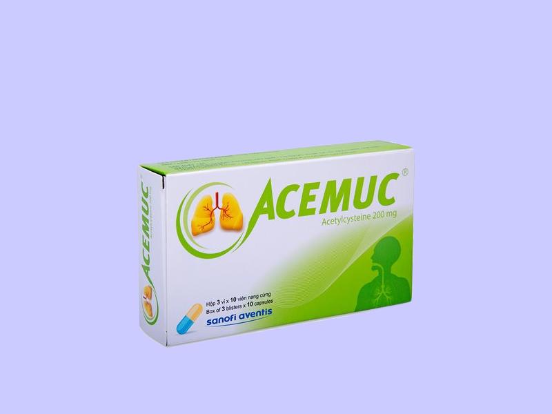 Acemuc 200mg dạng viên nang cứng